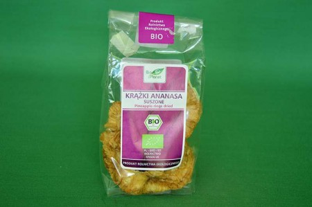 Krążki Ananasa Suszone 100g
